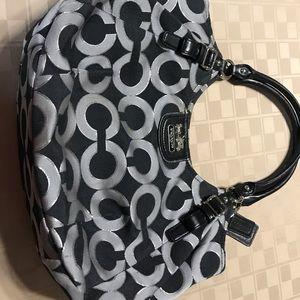 Large Bag Signature C Design Black Gray 9.5 X 17